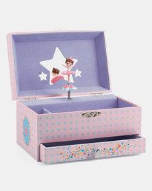 Djeco Wooden Musical Jewellery Box - Ballerina's Tune