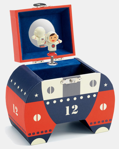 Djeco Wooden Musical Jewellery Box Polo 12 Spaceman