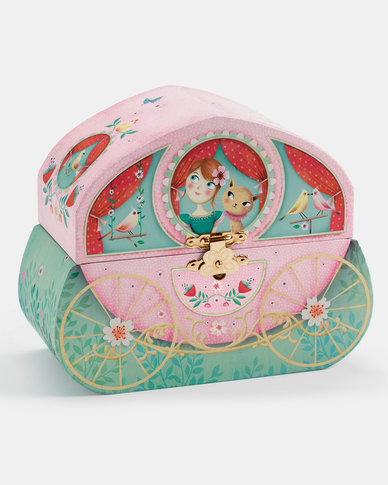 Djeco Wooden Musical Jewellery Box - Carriage Ride