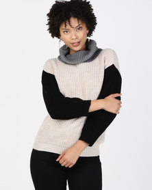 Utopia Colourblock Jumper Multi