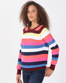 Utopia Brights 100% Cotton Stripe Jumper