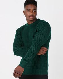 Utopia Melange Interest Jumper Emerald Green