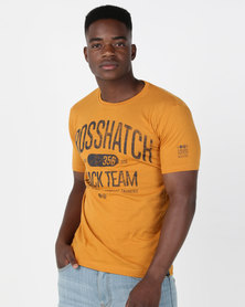 Crosshatch Crossgrove Track Team T-Shirt Burnt Orange