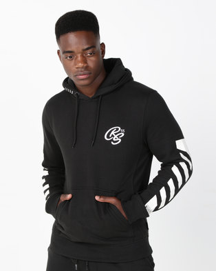 Crosshatch Laidley Hoody With Sleeve Print Black