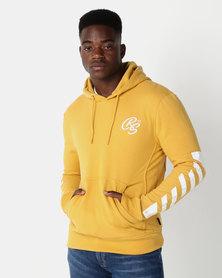 Crosshatch Laidley Hoody With Sleeve Print Yellow