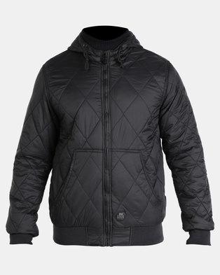 Crosshatch Quiltz Hooded Jacket Black