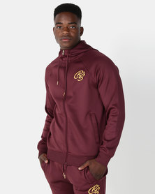 Crosshatch Blankton Hooded Tracktop Vinyard Wine