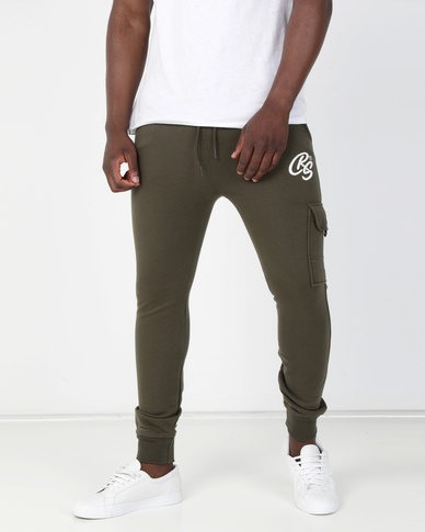 Crosshatch Lowood Pocket Jogger Forest Night Green
