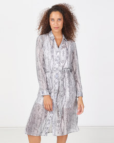Paige Smith Shirt Dress Snake Print