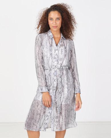 Paige Smith Shirt Dress Snake Print