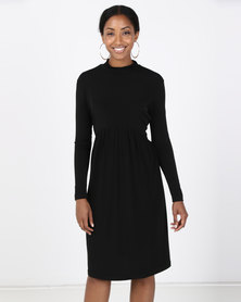 Paige Smith Polo Gauge Dress Black