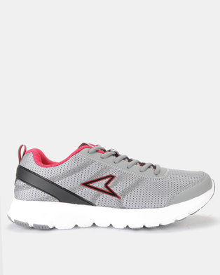 a9895862042b Power Performance Mens Running Shoes Grey Red