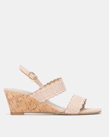 Bata Cork Wedge Sandal Pink
