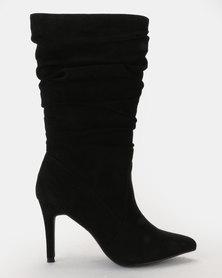 Bata Long Shuffle Boot Black