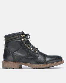 Bata Red Label Military Boot Black