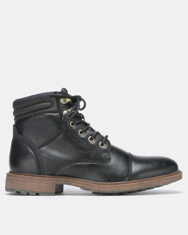 Bata Red Label Military Boot Black