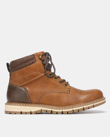 Bata Red Label Worker Boot Tan