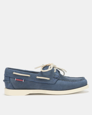 5b24fdf7000a Sebago Dockside Shoes NBK Navy Blue