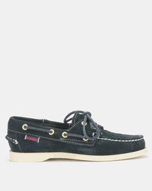 Sebago Dockside Suede Shoes Blue