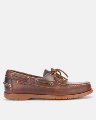 bdca7a8a52ec SEBAGO Endeavor Oiled Waxy Dark brown Lace-ups