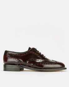 Watson Elite Welted Smooth Lace-Up Shoes Burgundy