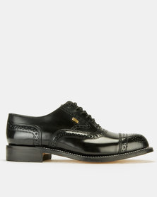 Watson Elite Welted Smooth Lace-Up Shoes Black