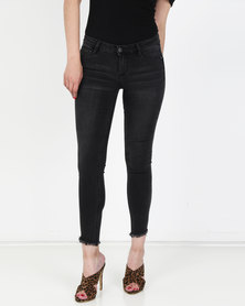 SIssy Boy Jon Jon Low-rise Skinny Jean Washed Black
