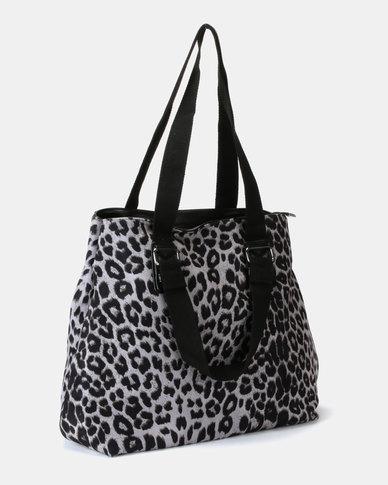 UB Creative Animal Print Handbag Grey