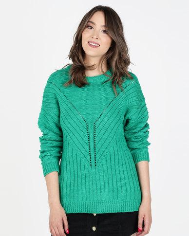 Elm Emerald Knit Top Green