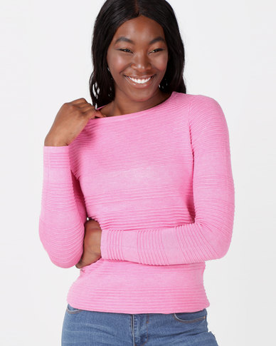 cath.nic By Queenspark Curved Ottoman Melange Core Jersey Pink