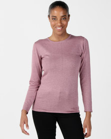 Queenspark Crewneck Melange Core Jersey Berry
