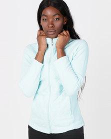 Queenspark Long Sleeve Quilted Zip Through Fleece Jacket Mint
