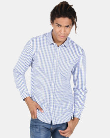 JCrew Grid Check Shirt Blue
