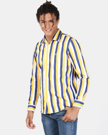 JCrew Bold Stripe Shirt Blue & White