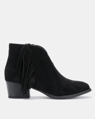 a56c8b00f Queenspark Tassle Ankle Boot Black