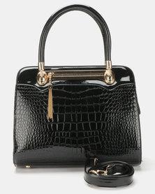 Queenspark Plaited Handle Bag Black
