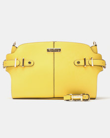 Queenspark Side Buckle and Tab Bag Yellow