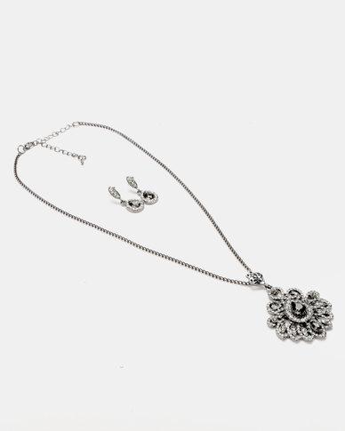 Queenspark Filigri Set Jewellery Set Charcoal