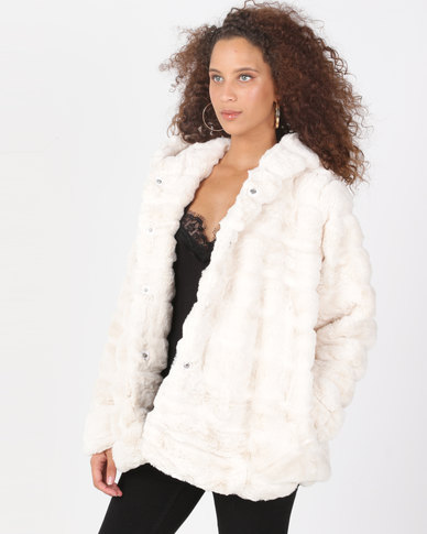 Utopia Cream Faux Fur Jacket