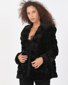 Utopia Black Faux Fur Jacket