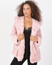 Utopia Pink Faux Fur Jacket