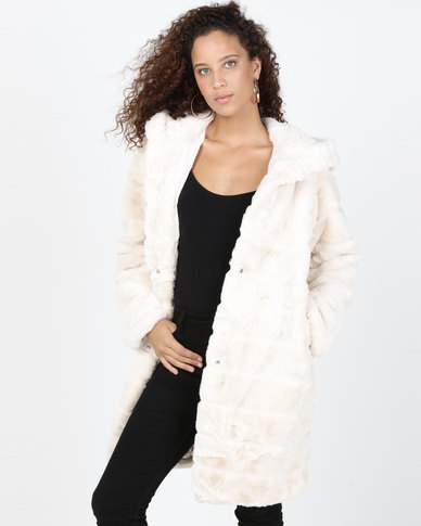 Utopia Faux Fur Jacket Cream