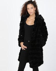 Utopia Faux Fur Jacket Black