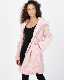 Utopia Faux Fur Jacket Pink