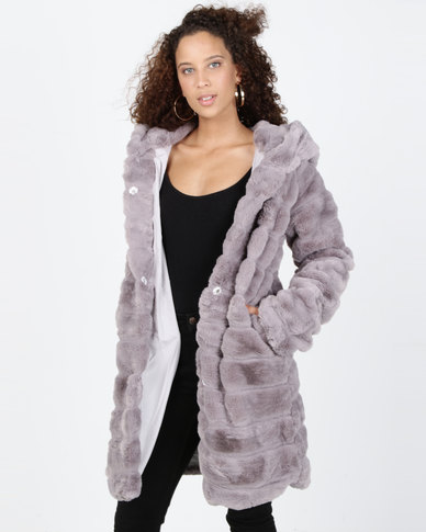 Utopia Faux Fur Jacket Grey