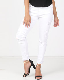 Utopia White Skinny Leg Jeans