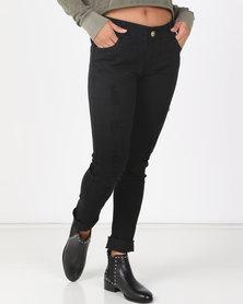 Utopia Black Skinny Leg Jeans