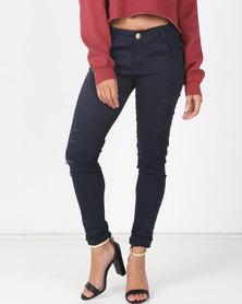 Utopia Navy Skinny Leg Jeans