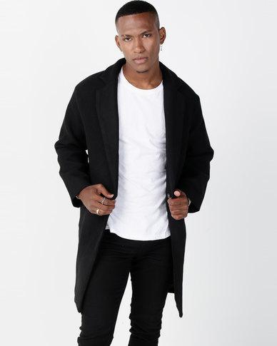 Utopia Black Melton Coat