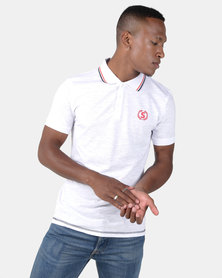 Swagga Golfer with Collar Detail White
